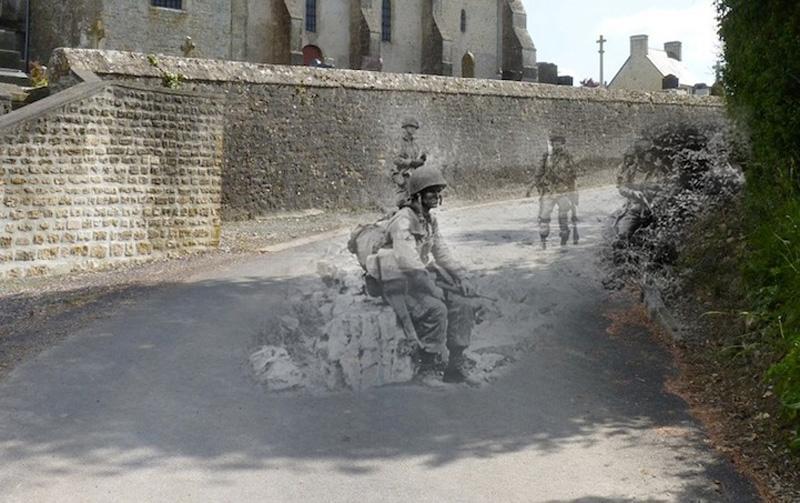 Леденящий душу призрак солдата попал в объектив видеорегистратора