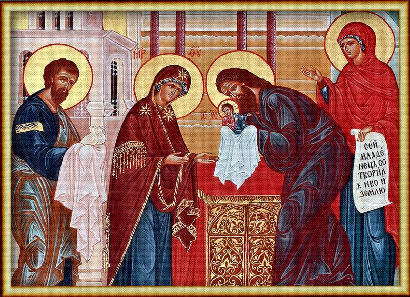 Православные христиане отмечают великий праздник Сретенья Господня