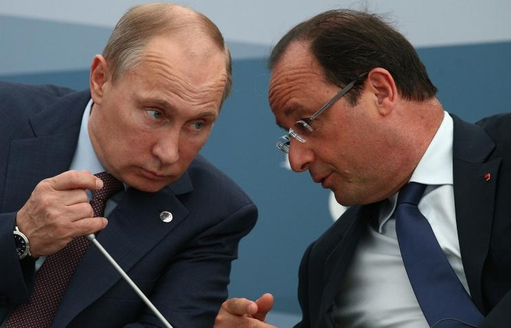 Путин поздравил Олланда с Днем взятия Бастилии
