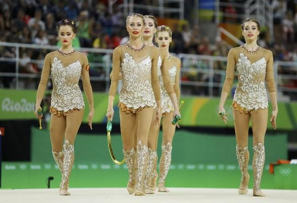 Сборная Российской Федерации вышла вфинал группового многоборья вхудожественной гимнастике