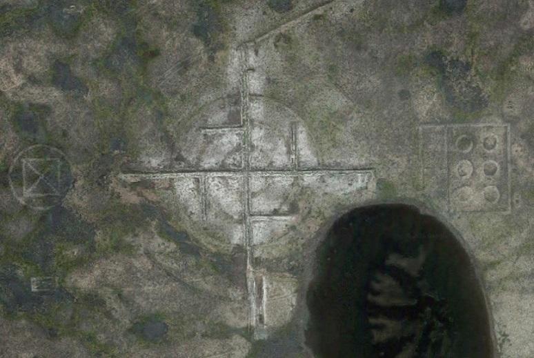 Гигантская свастика найдена уфологами в пустыне Невада возле Зоны 51