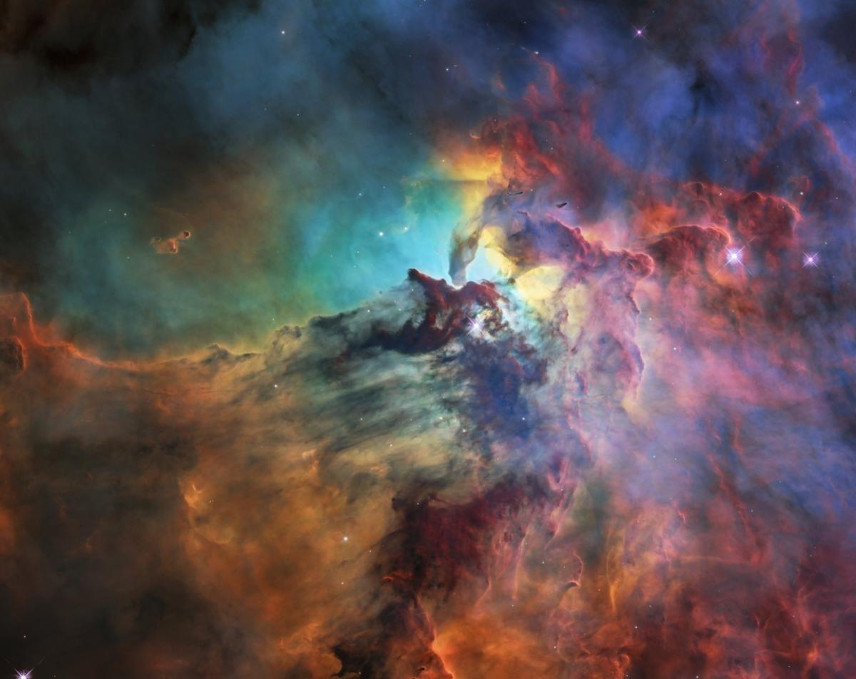 ESA опубликовало «праздничное» фото туманности Лагуна