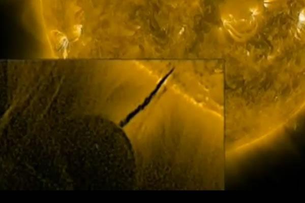 Видео NASA: Солнце является заправочной станцией для кораблей пришельцев?