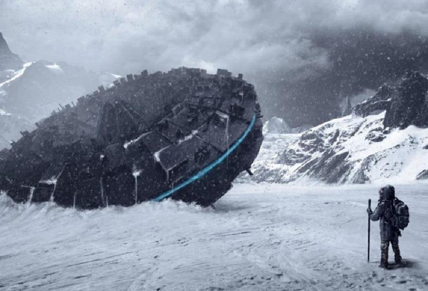 В Антарктиде обнаружили разбившийся звездолет пришельцев, пролежавший там миллионы лет