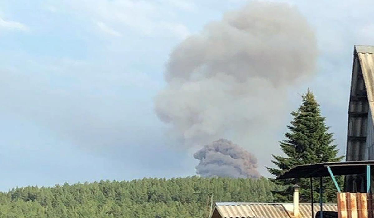 В воинской части Красноярского края взорвался артиллерийский склад со снарядами