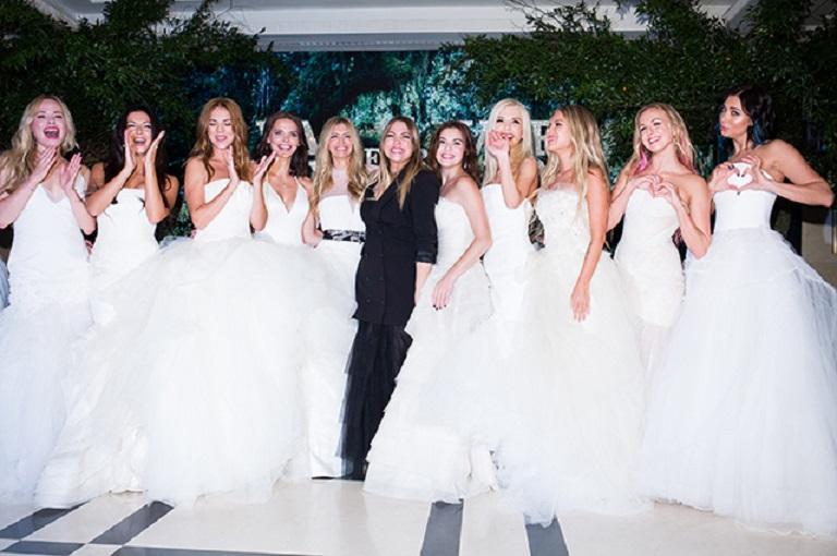 Российские звезды примерили свадебные платья американского дизайнера