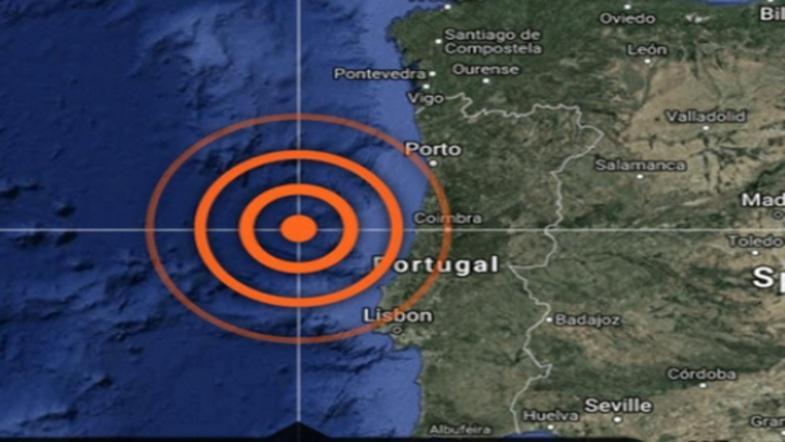 Сильное землетресение произошло у берегов Португалии