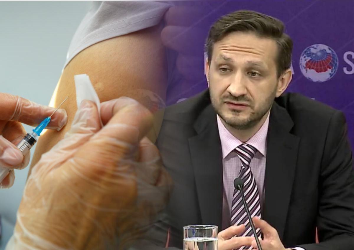 Коллаж: вакцинация, рука, шприц, главный инфекционист Минздрава Владмир Чуланов