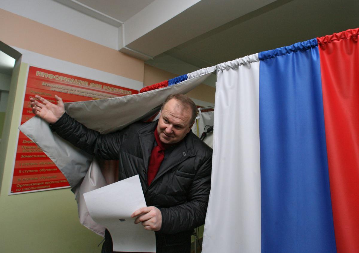 Кабинка для голосования на выборах