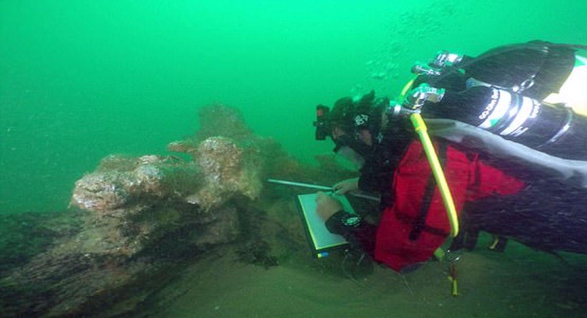 затонувшее древнее судно фото