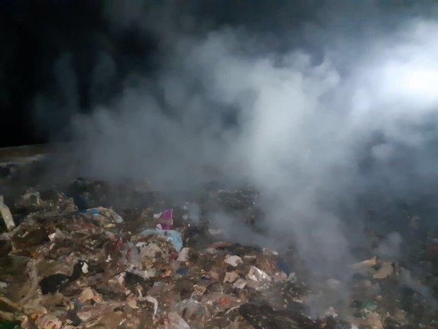 Неизвестные попытались сжечь мусорную свалку «Ядрово»