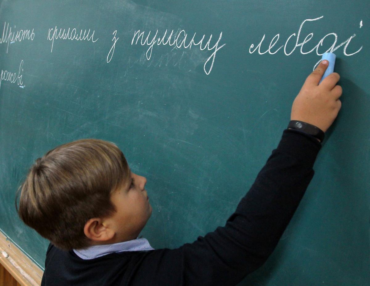 Украинский школьник