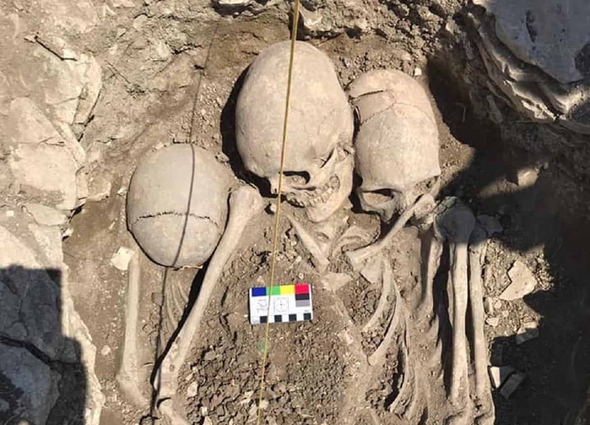 Крым раскопки черепа