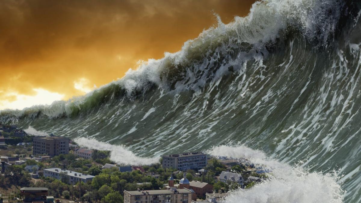 гигантское цунами
