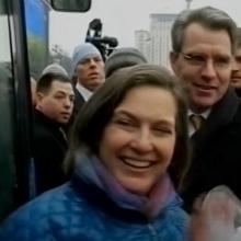 Виктория Нуланд на Майдане в Киеве в 2014 году